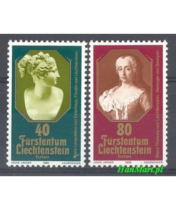Liechtenstein 1980 Mi 741-742 Czyste **