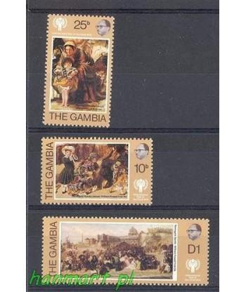 Gambia 1979 Mi 387-389 Czyste **