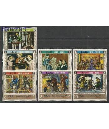 Jemen Północny 1969 Mi 938-944 Czyste **