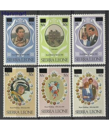 Sierra Leone 1982 Mi 658-663 Czyste **