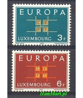 Luksemburg 1963 Mi 680-681 Czyste **