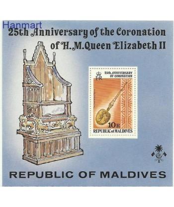 Malediwy 1978 Mi bl 50 Czyste **