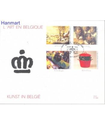 Belgia 2001 Mi 3054-3057 FDC