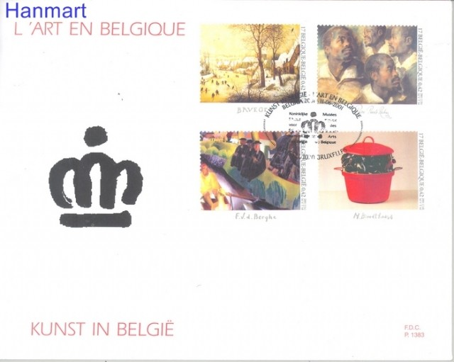 Belgium 2001 Mi 3054-3057 FDC