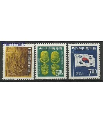 Korea Południowa 1968 Mi 605-607 Czyste **