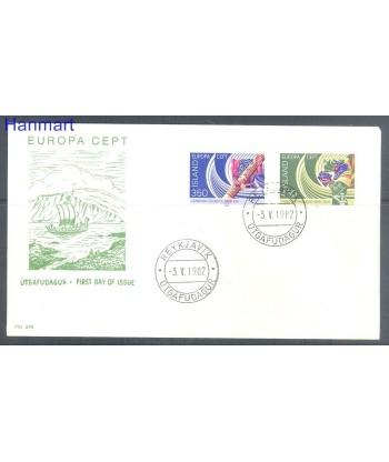 Islandia 1982 Mi 578-579 FDC
