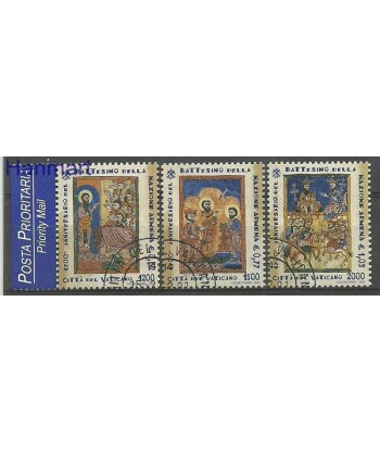 Watykan 2001 Mi 1366-1368 Stemplowane