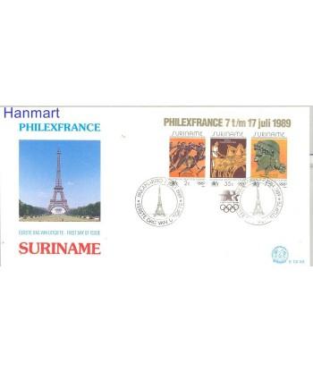 Surinam 1989 Mi bl 50 FDC