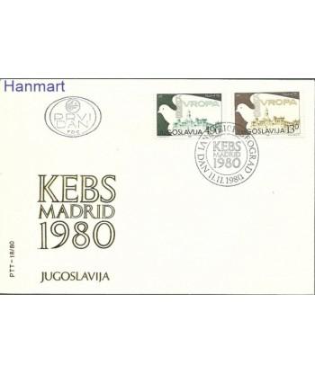 Jugosławia 1980 Mi 1857-1858 FDC