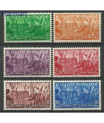 Turcja 1938 Mi 1035-1040 Z podlepka *