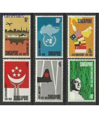Singapur 1969 Mi 101-106 Czyste **