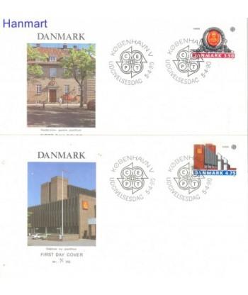 Dania 1990 Mi 974-975 FDC