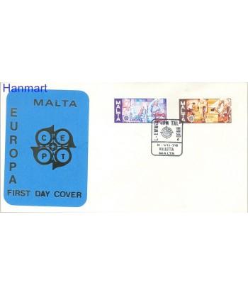 Malta 1976 Mi 532-533 FDC