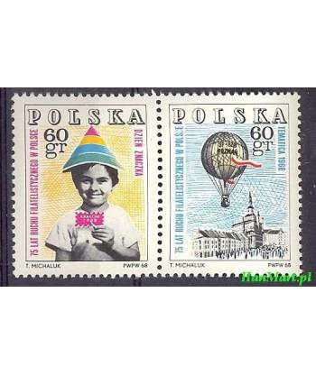 Polska 1968 Mi 1852-1853 Czyste **