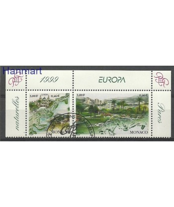 Monako 1999 Mi 2454-2455 Stemplowane