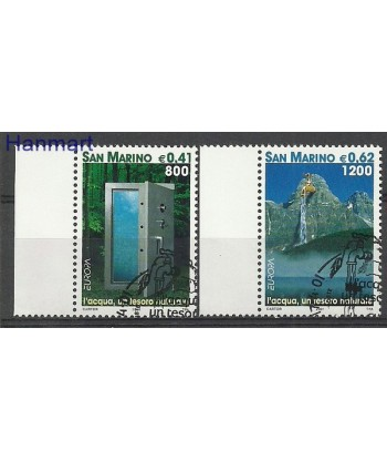 San Marino 2001 Mi 1950-1951 Stemplowane