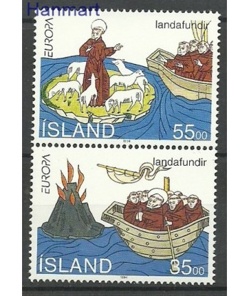 Islandia 1994 Mi 800-801 Czyste **