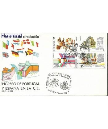 Hiszpania 1986 Mi 2709-2712 FDC