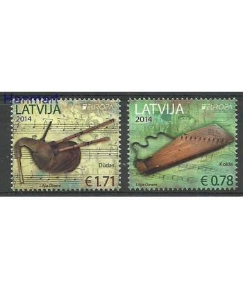 Łotwa 2014 Mi 904-905 Czyste **