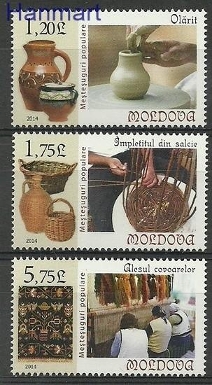 Mołdawia 2014 Mi 858-860 Czyste **