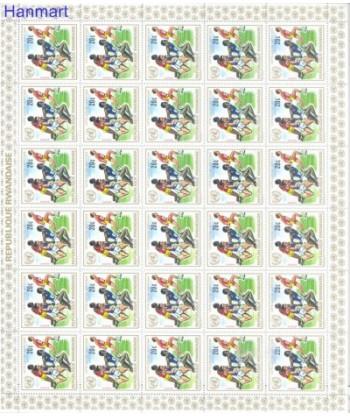 Rwanda 1972 Mi 529-536 Czyste **