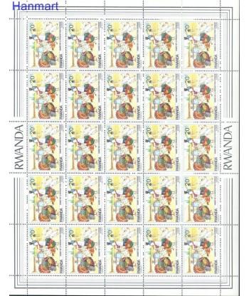 Rwanda 1985 Mi 1297-1304 Czyste **