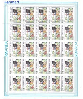 Rwanda 1991 Mi 1442-1445 Czyste **