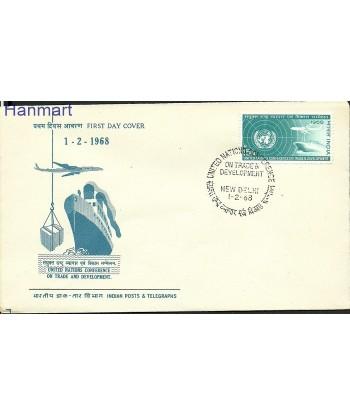 Indie 1968 Mi 445 FDC