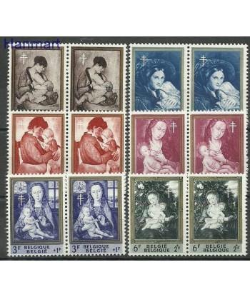 Belgia 1961 Mi 1258-1263 Czyste **