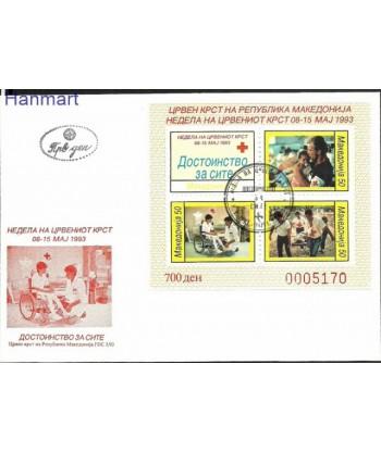Macedonia 1993 Mi zwabl 7 FDC