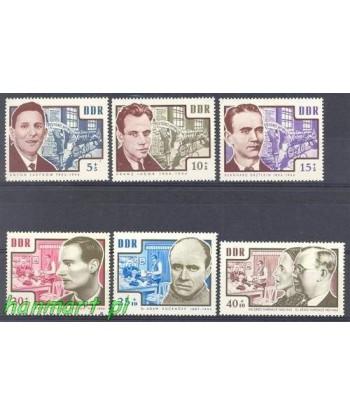 Niemiecka Republika Demokratyczna / DDR 1964 Mi 1014-1019 Czyste **