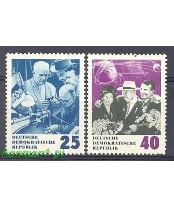 Niemiecka Republika Demokratyczna / DDR 1964 Mi 1020-1021 Czyste **