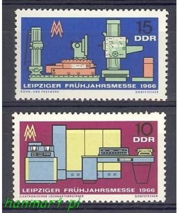 Niemiecka Republika Demokratyczna / DDR 1966 Mi 1159-1160 Czyste **