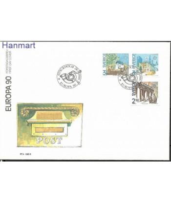 Szwecja 1990 Mi 1589-1591 FDC