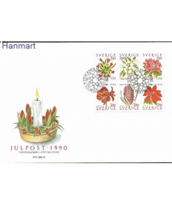 Szwecja 1990 Mi 1643-1648 FDC