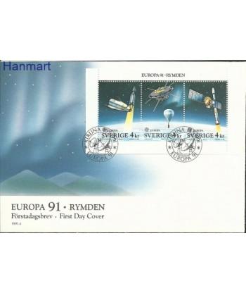 Szwecja 1991 Mi blatt 186 FDC