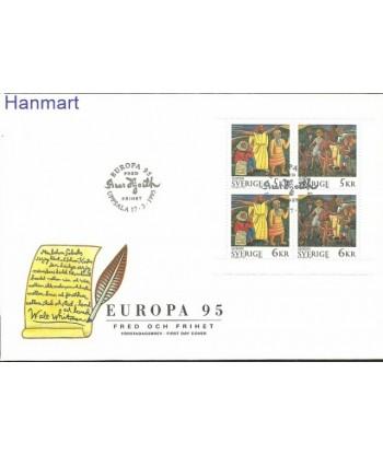 Szwecja 1995 Mi blatt 229 FDC