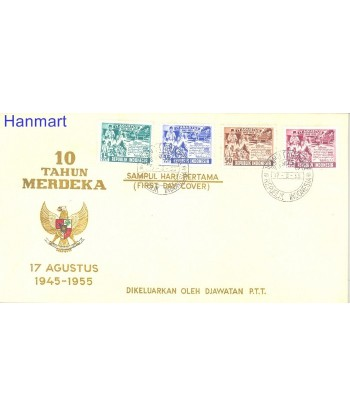 Indonezja 1955 Mi 143-146 FDC