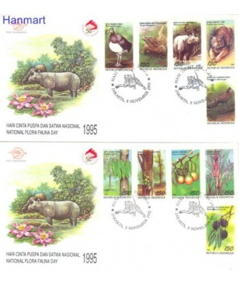 Indonezja 1995 Mi 1575-1584 FDC
