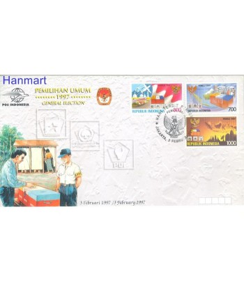 Indonezja 1997 Mi 1684-1686 FDC