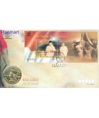 Indonezja 2001 Mi bl 169 FDC