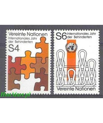 Narody Zjednoczone Wiedeń 1981 Mi 17-18 Czyste **