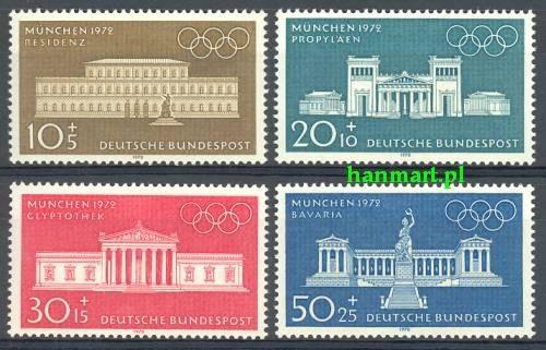 Niemcy 1970 Mi 624-627 Czyste **