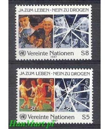 Narody Zjednoczone Wiedeń 1987 Mi 71-72 Czyste **