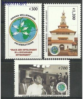 Ghana 1999 Mi 3040-3042 Czyste **