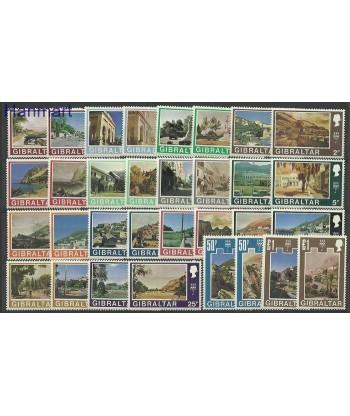 Gibraltar 1971 Mi 244-275 Czyste **