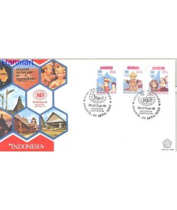 Indonezja 1988 Mi 1254-1256 FDC