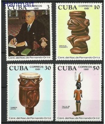 Kuba 1981 Mi 2612-2615 Czyste **