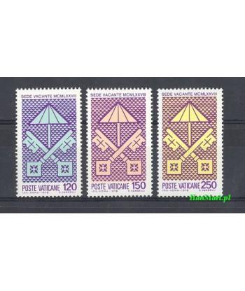 Watykan 1978 Mi 726-728 Czyste **