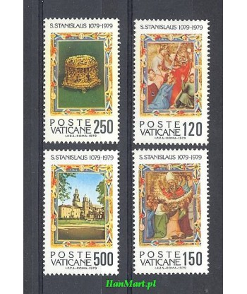 Watykan 1979 Mi 739-742 Czyste **